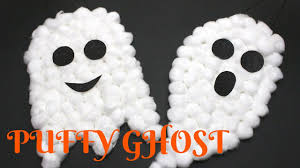 puffy ghost halloween craft halloween crafts for kids youtube