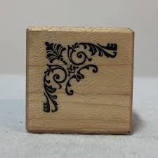 1980 psx wood mounted rubber stamp a 279 corner frame edge ornate