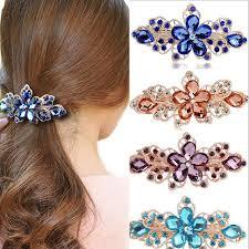 barrette hair lnrrabc fashion rhinestones flower hair women