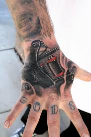 jeff norton tattoos tattoos realistic tattoo machine on hand