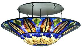 stained glass ceiling light fixtures top 58 beautiful mission tiffany semi flush ceiling light lights
