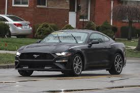 Black Mustang With Green Stripes 2018 Mustang Refresh Released 2018 Mustang Photos Cj Pony Parts