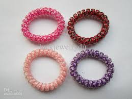 elastic hair bands hot colorful elastic hair bands telephone wire hair ties mixed
