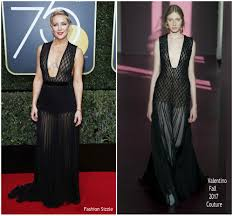 Fashion Sizzlers Archives Fashionsizzle by Kate Hudson In Valentino Couture U2013 2018 Golden Globe Awards