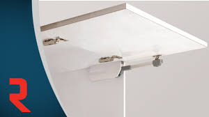 lift up cabinet door hardware easy lift up stay youtube