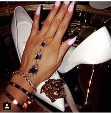 hand chains bracelet images Jewels chain bracelets diamonds rhinestones versace luxury jpg