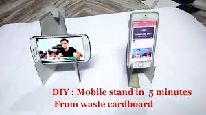 diy craft mobile phone stand for desk how to make mobile phone