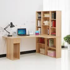 Corner Desk Solid Wood Corner Desk With Bookshelf Optimal For Organizing U2014 Harper Noel Homes