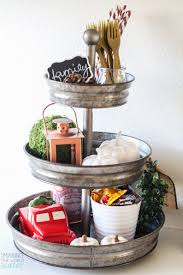thanksgiving mantel tiered tray decorating ideas and where to buy them