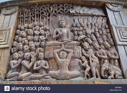 beautiful wood carving on the darjeeling peace pagoda west bengal