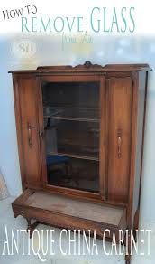 How To Remove Stain From Wood Cabinets How To Remove Glass From Antique China Cabinets Salvaged