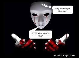 Bleeding Eyes Meme - why are my eyes bleeding wtf whos blood is this whos blood