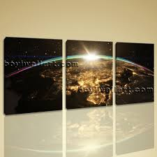 Home Decor Canvas Art Large Epic Sunrise Over World Skyline Other On Canvas Art Print