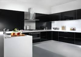 Glass Kitchen Cabinet Doors Black Color  Optimizing Home Decor - Black lacquer kitchen cabinets