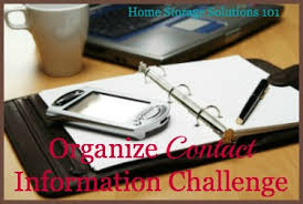Home Storage Solutions 101 Organized Home How To Create A Simple Address Book And Organize Contact Information