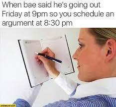 Bae Meme - arguing with bae mutually