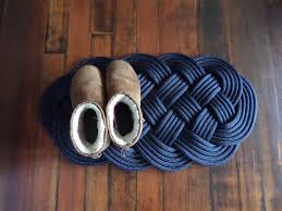 Nautical Outdoor Rugs by 30 X 15 Navy Rope Rug Tightly Woven Knotted New Rope Indoor Or