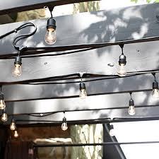 deneve outdoor string lights 48ft bulbs not included heavy duty