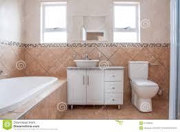 Bathroom Bath New Bathroom With Bath Basin And Toilette Stock Photo Image
