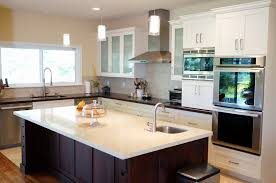 One Wall Kitchen With Island Modern One Wall Kitchen Single Line Kitchen Design Kitchen Island