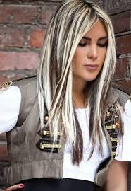 white hair with black lowlights dark brown hair with white blonde streaks fashion trends styles