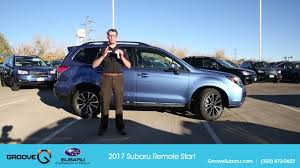 subaru minivan 2016 how to using the new 2017 subaru remote start system youtube