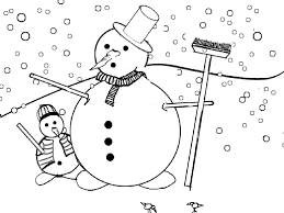 coloring page christmas snowman coloring pages 4