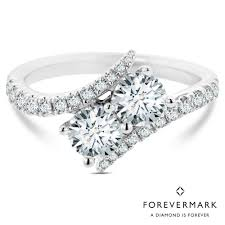 white stone rings images Forevermark ever us diamond two stone ring in 18kt white gold 1 1 jpg