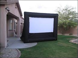 Media Room Tv Vs Projector - outdoor projector screens inflatable versus fabric screens ebay
