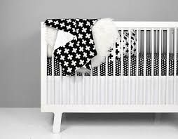 Black And White Crib Bedding For Boys Olli Lime Black And White Crib Bedding Modern Baby Bedding