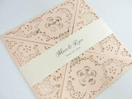 Blush Wedding Invitations Laser Cut Wedding Invitation