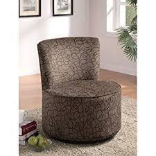 Swivel Accent Chairs by Amazon Com Coaster 902003 Round Swivel Accent Chair Swirly Print