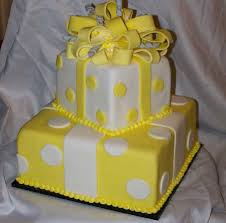 Bridal Shower Cake Yellow And White Wedding Cake Designs Best