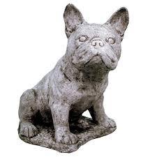 bulldog garden statue in the garden garden