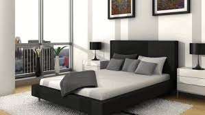 White Ottoman Bed by Black White And Grey Bedroom White Black Dot Theme Furniture