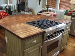 kitchen island stove top butcher block islands with stove top interior decor picture