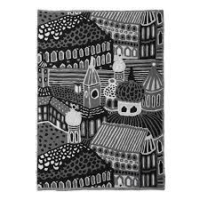 marimekko kumiseva black white blanket marimekko sale