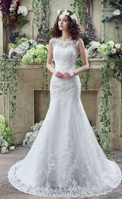 lace mermaid wedding dress cheap beautiful mermaid scoop sweep lace wedding dress the
