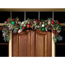 the cordless prelit festive twist holiday garland hammacher
