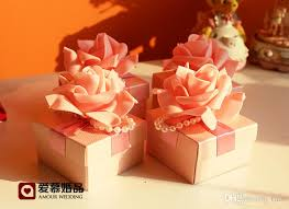 candy favor boxes wholesale europe style romatic flower wedding favor candy boxes wedding