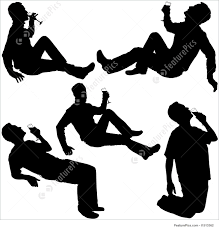 wine silhouette silhouettes drinking man illustration