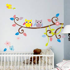Owl Wall Stickers For Kids Room Decor Nursery Cartoon Wall Decals - Kids rooms decals