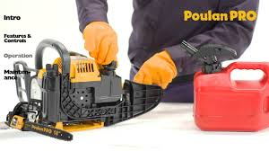 poulan pro chainsaw operation youtube