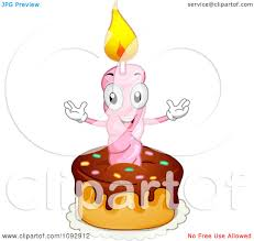 1st birthday candle clipart happy birthday candle on a cake royalty free
