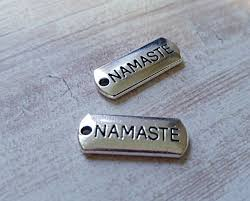 inspirational charms word charms namaste charms pendants inspirational charms silver