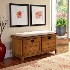 wooden ottoman bench seat home styles arts crafts upholstered storage bench hayneedle