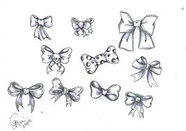 ribbon bows tattoos set in 2017 real photo pictures images and