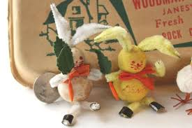 vintage easter decorations easter decorations honeycomb tissue eggs japan chenille bunnies