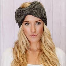 handmade headbands women king bow turban knit knitted headband headwrap winter