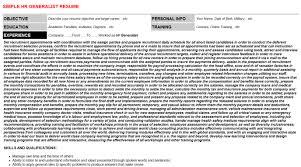 Hr Generalist Resume Sample by 3d Generalist Resumes U0026 Cover Letters